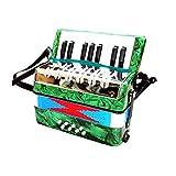 Acordeón Colección de música de acordeón percusión acordeón de Juguete 17 Claves de Desarrollo Infantil Niño Niña for la Edad de 6 Fácil De Aprender Y Jugar (Color : Verde, Size : 24x12x24cm)