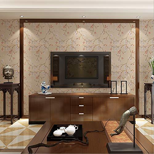 Vintage Wasserdichte Pvc-Tapete, Selbstklebende Dekoration Wohnzimmer Chinesische Tapete Tv Hintergrund Wand Desktop Cashback Aufkleber, 1277, 0.45Mx10M