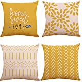 Pillow Covers 18x18 inch Set of 4, Modern Sofa Throw Pillow...