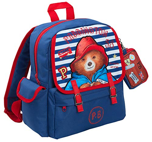 Paddington Bear Kids Luxury Backpack Satchel Travel Case + Detatchable Wallet Purse Boys Girls School Book Bag