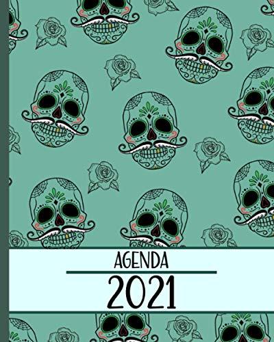 Agenda 2021: Planificador con Calaveras, Semanal/ Mensual+...