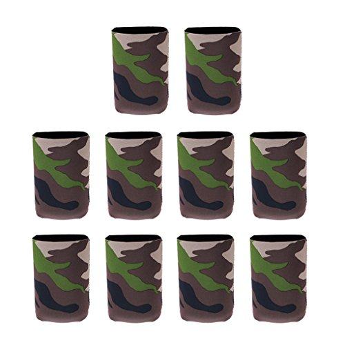 Homyl 10tlg. Faltbare Tarnung Dosenkühler Bierkühler für unterwegs, Grillparty, Picknick, Ausflug, für 0,33l Dosen/Bierdosen