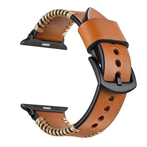 Correa De Repuesto De Cuero para Apple Watch Series 4 3 2 1 IWATCH 38/40MM 42/44MM,Marrón,38/40mm