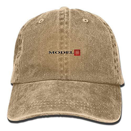 Xukmefat Tesla Model 3 Red Logo Unisex Adult Baseball Cap Trucker Hat Cowboy Hat Hip Hop Sports Snapback PK3003