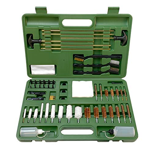 FIREGEAR Gun Cleaning Kit Universal Supplies for Hunting Rilfe Handgun Shot Gun Cleaning Kit for All Guns with Case (G2)