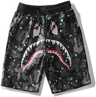 Fashion Shorts Trend Stitching Drawstring Popular Shorts Sweatpants