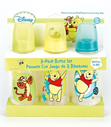 Learn More About Winnie The Pooh Three Pack Deluxe Baby Bottle Set