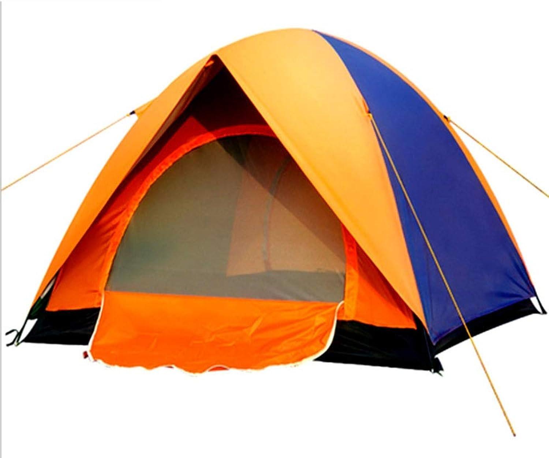 Tents Outdoor Camping Shockproof Double Door Tent 3 People 4 People Tent Windproof Rain Sunscreen Canopy