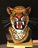 HY Cusfull Halloween Maschera Maschera di Animali in Lattice del per Il Costume di Halloween di Natale Costume Partito Decorazioni Accessorio Adulti-Testa del Leopardo
