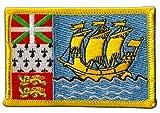 Aufnäher Patch Flagge Frankreich Saint-Pierre & Miquelon - 8 x 6 cm
