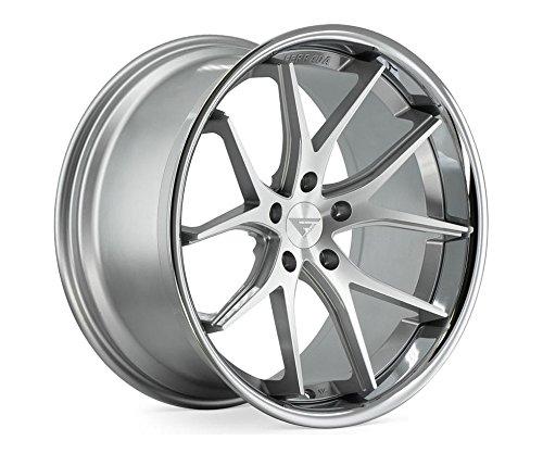 20' Inch Ferrada FR2 Silver Machine/Chrome Lip Concave Wheels Rims | Set of 4 | Fits Dodge Charger Challenger