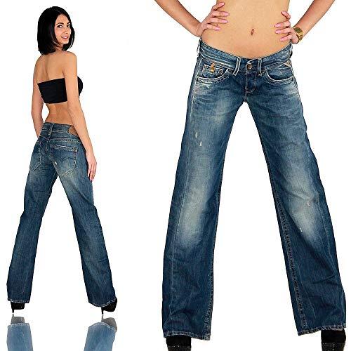 Replay Janice, WV580 .865.222 Damen Jeans Hose, 12 OZ Blue Denim W24/L32