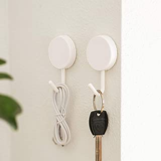 Adhesive Hooks Wall Key Hooks Holder Key Hangers for Wall Small Gadgets Organizer for Entryway Kitchen Bathroom Door - 10 ...
