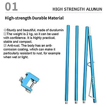 OMUKY Support de Lampe à Table Léger Pliable Pôle de Table Alliage d'Aluminium pour Camping Réglable Léger (Bleu)