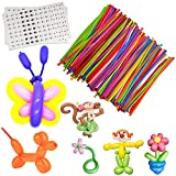 100Pcs Magic Balloons, Colorful Long Latex Balloons Twisting DIY Animal Balloon Premium Quality Balloons for Beginners Children's Party Carnivals Party Decoartions