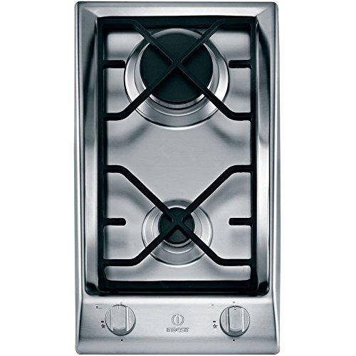 Indesit DP 2GS IX Tischplatte Gas Edelstahl – Platten (Tischplatte, Gas, Edelstahl, drehbar, 3500 W, 288 mm)