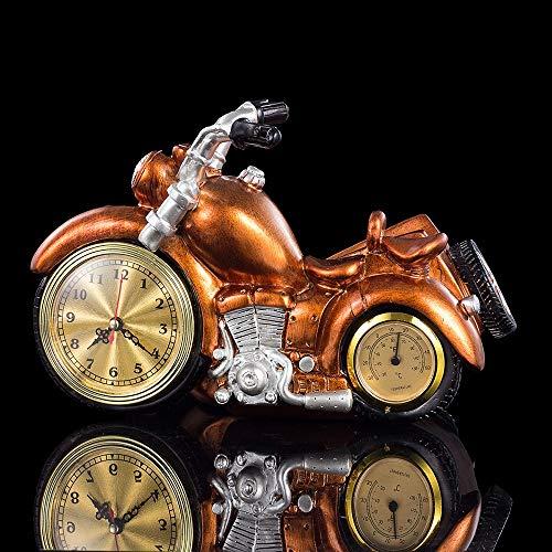 Stella Fella Estante de vino europeo de la motocicleta estante de vino de resina grande reloj botella de vino estante creativo regalo adornos