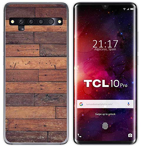 Cover Gel TPU Case Cover For Tcl 10 Pro Design Wood 03 Cartoon