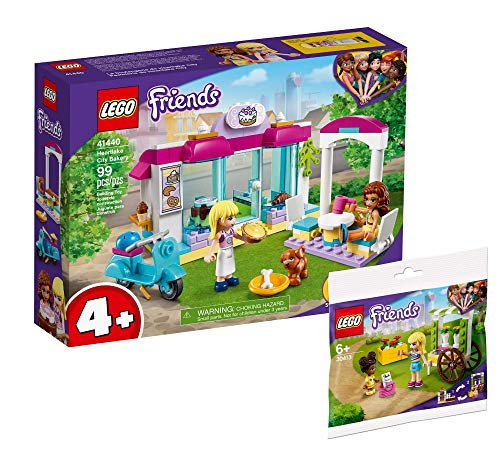 Collectix Lego Set Friends Heartlake City Bäckerei 41440 + Friends 30413 - Carrito para flores (bolsa de plástico)