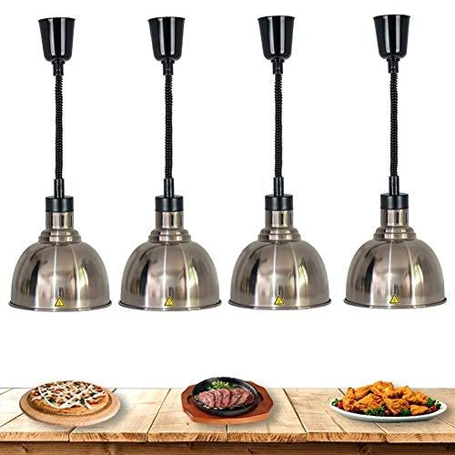 MAMINGBO 4 Lámpara ajustable Paquete de calor for las Partes Buffets, Alimentación Lámpara Heat luces de la cocina bufé servidor calientaplatos del metal de la lámpara, evitar que los alimentos se enf