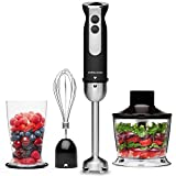 Andrew James Hand Blender 3 in 1 Set Electric with Whisk & Chopper