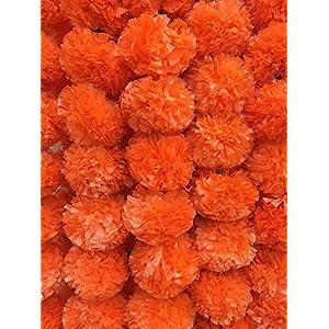 DECORATION CRAFT Artificial Marigold Flower Garlands 5 Feet Long