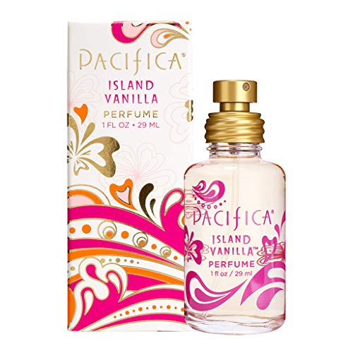 Pacifica Beauty Island Vanilla Spray Clean Fragrance Perfume, Made with Natural & Essential Oils, 1 Fl Oz   Vegan + Cruelty Free   Phthalate-Free, Paraben-Free  Made in USA