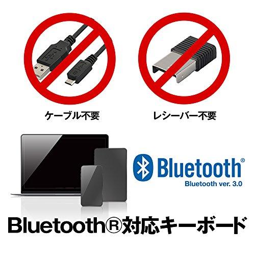 BUFFALO折りたたみBluetoothワイヤレスキーボードブラックBSKBB705BK【iOS/Android/Mac/Windows/PS4対応】