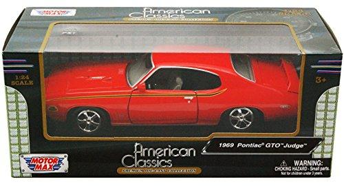 Pontiac GTO Judge, orange , 1969, Modellauto, Fertigmodell, Motormax 1:24