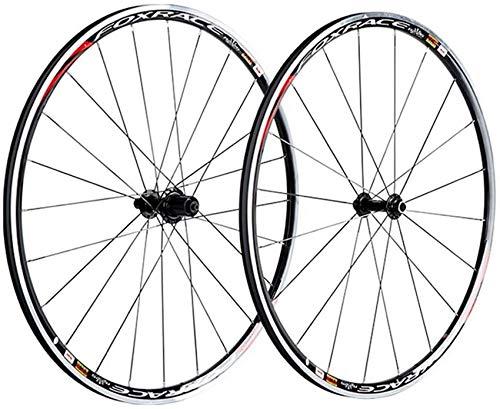 Juego de ruedas para bicicleta de carretera 700C Ruedas de bicicleta Llanta de aleación de doble pared Freno de llanta de cubo de rodamiento sellado de 25 mm con liberación rápida Ruedas delanteras y