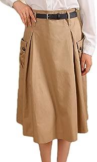 heymoney Womens Skirt Cotton Fashional Work Knee High Premium Elegent Skirt