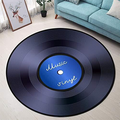 YSJJQSC Teppich Rundfläche Teppich und Teppich für Zuhause Wohnzimmer Memory Foam Schlafzimmer Kissen Badezimmer Bodentürmatte Startseite Einrichtung (Color : YDD3448, Specification : Diameter 100CM)