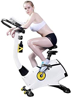 Nfudishpu Indoor Exercise Bike Indoor Cycling Stationary Bike,Adjustable Seat and Handlebar, Stable Quiet and Smooth for H...