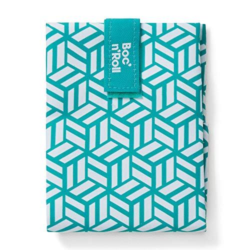 Roll'eat - Boc'n'Roll Tiles | Bolsa Merienda Porta Bocadillos, Envoltorio Reutilizable y Ecológico sin BPA, Verde
