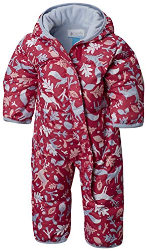 Columbia Schneeanzug für Kinder, Snuggly Bunny Bunting, Polyester, - Rosa, Blau (Cactus Pink Deers, Faded Sky) - 3/6 months