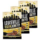 Louisville Vegan Jerky - Smoky Carolina BBQ, Vegetarian & Vegan-Friendly Jerky, 15 Grams of Non-GMO Soy Protein, 300 Calories Per Bag, Gluten-Free Ingredients (3 oz, 3-Pack)