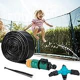 Trampolin Sprinkler,12 m Trampolin Spray,Outdoor Trampolin Wassersprinkler mit Mit Schalter und...