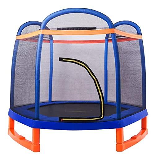 HYDT 7 pies de trampolín para niños con Cubierta de Red Cubierta de Resorte bebé trampolín Bungee Cama Exterior jardín trampolín