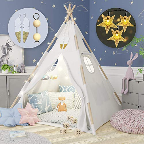 Tazztoys Kids Teepee Tent for Kids with...
