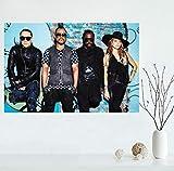 YOUCAIHUA Black Eyed Peas Toile affiche Art décoration de