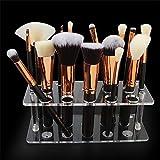 DASFNVBIDFAHB Caja de Maquillaje, Maquillaje Cepillo Soporte de exhibición (Color : Transparent)