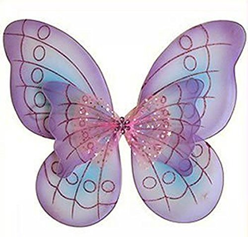 Cutie Collections Purple Butterfly Costume Dress-up Wings,One Size
