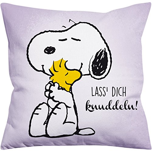Peanuts Snoopy Collection - kussen laat je knuffel!, 40 x 40 cm