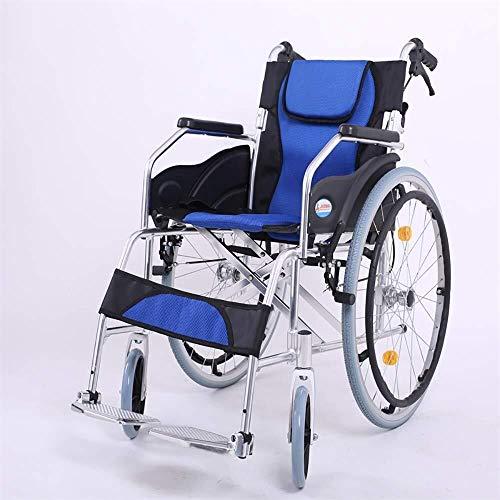 HYY-YY Silla de Ruedas sillas de Ruedas Comfort portátil Multifuncional Silla de Ruedas Plegable Transporte de Ancianos Carro Silla Viaje discapacitados con el Freno de Mano (Estilo: B)