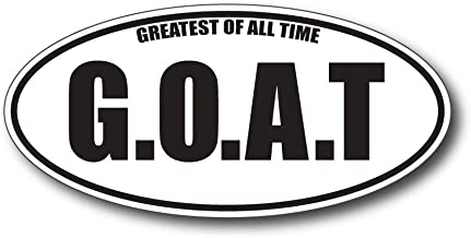 BOLDERGRAPHX 6140 GOAT (G.O.A.T) Greatest of all times Decal/Sticker for bumpers, windows, laptops or any smooth surface