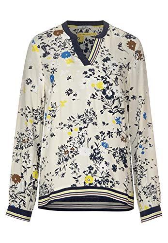 Cecil Damen Bluse mit Blumenmuster Alabaster beige XXL