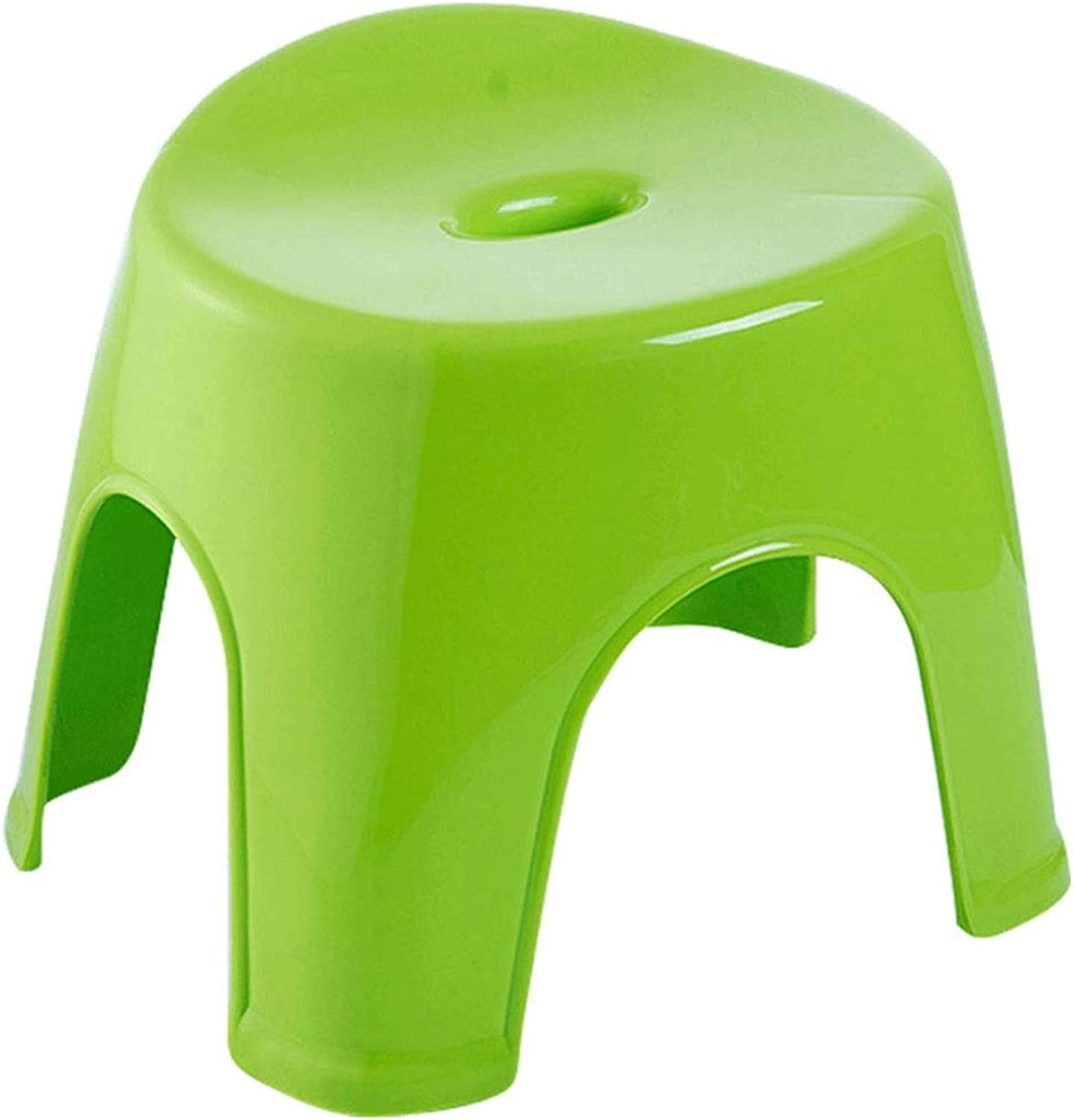 Tea Table Footstool, Plastic Non-Slip Breathable Small Stool Kindergarten Classroom Dedicated Small Bench Height 24-30CM (color   Green, Size   34.5  30  30CM)