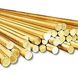 TEN-HIGH Tige en laiton,H59 Cu barre solide en métal cuivre, cylindre solide,dureté élevée et haute résistance,diamètre 20 mm, longueur 1000 mm