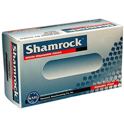 Shamrock 80113-L-bx Food, Work, Nitrile Latex, No Powder, Thin, Cheap, Large, Blue