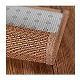 JIAJUAN Fibra Natural Bambú Piso Estera Zona Alfombra Respirable Antideslizante Alfombra para Sala Habitación Cama Café Mesa (Color : B, Tamaño : 100x200cm)
